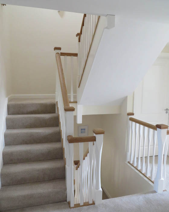 Photo of Harwoods Carpentry and Building Salisbury Wiltshire wooden staircase and spindles