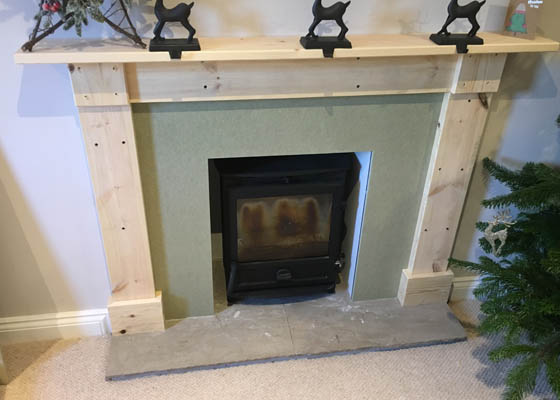 Photo of Harwoods Carpentry and Building Salisbury Wiltshire wooden fireplace