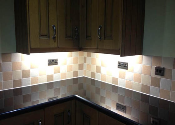 Photo of Harwoods Carpentry and Building Salisbury Wiltshire kitchen lighting